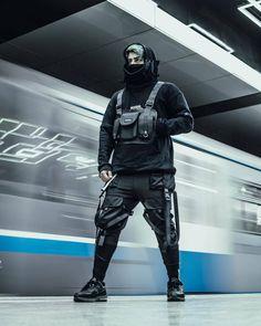 Mode Cyberpunk, Cyberpunk Fashion, Urban Samurai, Armor Clothing, Military Looks, Style Japonais, Black White Fashion, Japan Fashion, Street Wear
