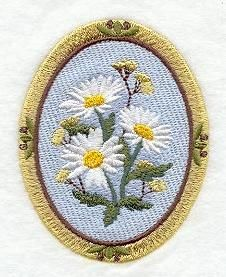 Machine Embroidery Designs at Embroidery Library! - Daisies
