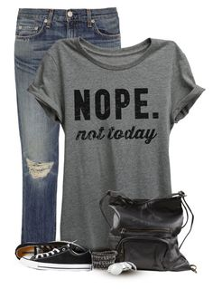 I have this Tee and LOVE it  by cindycook10 on Polyvore featuring polyvore, fashion, style, rag & bone, Converse, VILA, Urban Boundaries, clothing, simpleoutfit, polyvorecommunity and statementtshirt