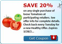 Save 20% on loose tomatoes #coupon