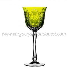 Imperial Yellow-Green Water 228€ Whiskey Decanter, Luxury Candles, Budapest, Wine Glass, Candle Holders, Things To Come, Collections, Traditional, Crystals
