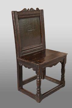 17th century backstool, Marhamchurch antiques