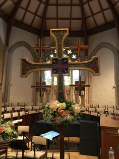 Processional cross flowers