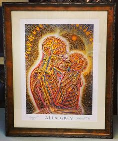 Another awesome Limited Edition print by Alex Grey! We think this turned out really well! Custom framed by FastFrame of LoDo! #art #framing #denver #colorado #pictureframing #customframing #alexgrey