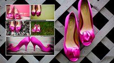 Hot Pink Kate Spade wedding shoes