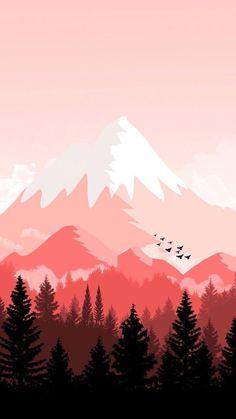Landscape Wallpaper, Scenery Wallpaper, Nature Wallpaper, Landscape Art, Wallpaper Backgrounds, Landscape Paintings, Iphone Wallpaper, Red Wallpaper, Screen Wallpaper