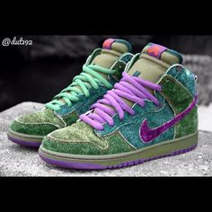 """Nike SB Dunk High """"420 Skunk"""" I def tok to these"""