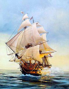 pinturas de barcos en tormentas - Buscar con Google