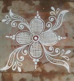 Rangoli Designs Flower, Rangoli Border Designs, Rangoli Patterns, Colorful Rangoli Designs, Rangoli Ideas, Rangoli Designs Diwali, Mehndi Art Designs, Kolam Rangoli, Flower Rangoli