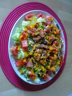 Salada brutal com acafrao