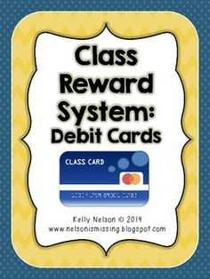 "Classroom Reward System - Debit Cards for Kids Freebie! ""Money"" loaded on friday based on attendance and behavior"