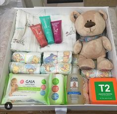 Beautiful baby gift by Petite Seeds using GAIA products. #gaia #gaiaskincare #gaianaturalababy #babygifts #newborngifts