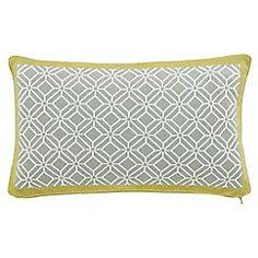 Sanderson - Pale yellow 'Wisteria Blossom' cushion
