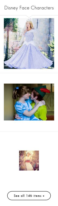 """""""Disney Face Characters"""" by potterhead212 ❤ liked on Polyvore featuring disney, pictures, couples, peter pan, disney icons, icons, cinderella, snow white, beauty and the beast and icon"""