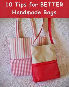 10 Tips For Better Handmade Bags Geta S Quilting Studio Good Information About Interfacing In Free Tutorial Section
