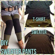 My Handmade Hell: DIY Sweater Leggings!