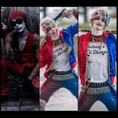 Gay Halloween Costumes, Halloween Cosplay, Cool Costumes, Costumes For Women, Harley Quinn Cosplay, Joker Cosplay, Joker And Harley Quinn, Amazing Cosplay, Best Cosplay