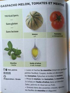 Gaspacho melon, tomates et menthe | Recette de J.F. MALLET