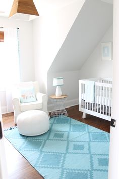 Project Nursery - Blue and White Ocean-Inspired Nursery - Project Nursery