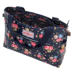Latimer Rose Zipped Handbag With Detachable Strap