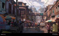 Uncharted 4 - Antananarivo, Nick Gindraux on ArtStation at https://www.artstation.com/artwork/qZk2N