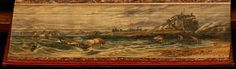 Fore-edge paintings: 'Marmion', 1811, by Sir Walter Scott -- Lindesfarne Abbey