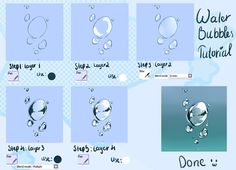 「Water bubbles tutorial」/「Sakina Kumiko」のイラスト [pixiv]