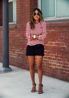 stripes red top Julie Sariñana