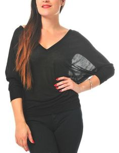 Slouchy V-Neck Dolman Sleeve Shirt ModDeals. $12.80