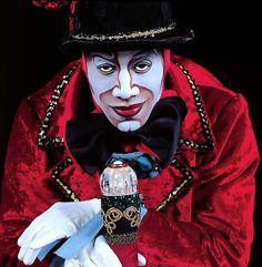 The Ringmaster (Cirque du Soleil Dark Circus, Circus Art, Circus Clown, Cirque Vintage, Vintage Circus, Day Of Dead, Le Clown, Clown Faces, Boris Vallejo