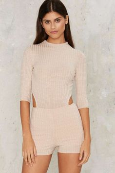 Missing in Action Ribbed Romper | Shop Clothes at Nasty Gal!