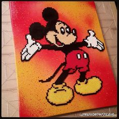 Mickey Mouse perler beads by ig_retro4everything_