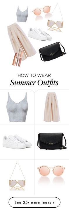 """Classy summer outfit"" by laauraaxdd on Polyvore featuring adidas, River Island and Dolce Vita"