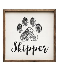 Loving this Paw Print Personalized Framed Wall Art on #zulily! #zulilyfinds