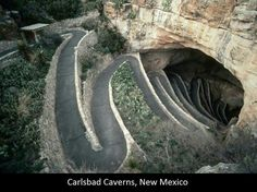 The Entrance to Carlsbad Caverns. The largest underground caverns in the world. Carlsbad New Mexico USA.
