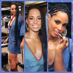 Alicia Keys braids long