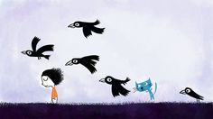 Alone with ravens by ploop26.deviantart.com on @deviantART - Nicolas Gouny