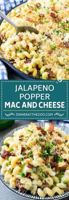 Jalapeno Popper Mac and Cheese Recipe Bacon Macaroni and Cheese Spicy Mac and Cheese Jalapeno Mac and Cheese Spicy Recipes, Cheese Recipes, Pasta Recipes, Vegetarian Recipes, Dinner Recipes, Cooking Recipes, Bacon Recipes, Recipes With Macaroni Noodles, Hamburger Recipes