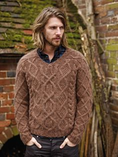 42 Comfy Winter Fashion Outfits for Men in 2015 Aran Sweaters, Cable Sweater, Men Sweater, Aran Jumper, Cocoon Sweater, Crewneck Sweater, Cable Knit, Winter Mode Outfits, Winter Fashion Outfits
