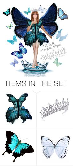 """""""Queen of the butterflies - Top art set 8th of September, 2017!"""" by onelittleme ❤ liked on Polyvore featuring art"""