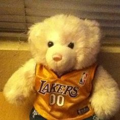 Build a bear the Lakers basketball!