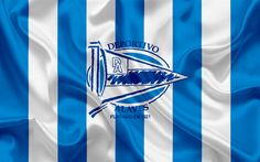 Download wallpapers Deportivo Alaves, football club, emblem, logo, La Liga, Vitoria-Gasteiz, Spain, LFP, Spanish Football Championships