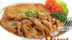 Original Züricher Geschnetzeltes is a Swiss dish from the Zurich region. Its main ingredients are veal sliced into small strips, sliced mushrooms and cream Stuffed Mushrooms, Shrimp, Chicken Recipes, Food And Drink, Dishes, Meat, Ethnic Recipes, Switzerland, Kitchens