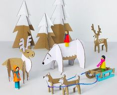 Similar to paper dolls, these Yuletide Friends Cardboard Toys are fun to assemble and even more fun to play with. These Christmas crafts for kids involve some imagination and precision. With the free printable templates, you get a lot of patterns. Kids Crafts, Christmas Crafts For Kids, Winter Christmas, Projects For Kids, Diy For Kids, Christmas Decorations, Crafts Cheap, Childrens Christmas, Cheap Christmas