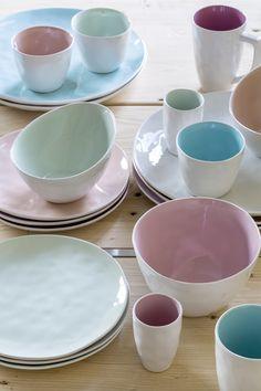 Vaisselles Color Pastel Athezza! Nouveautés 2014