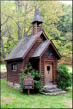 Tiny Chapel in Trust NC, open 24/7. Great for an elopement or wedding with six or eight guests. About one hour from Asheville.