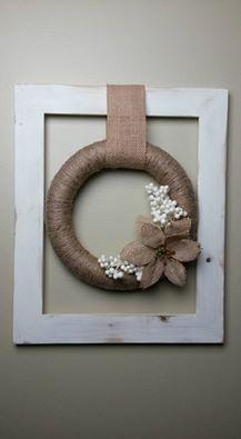 Michelle Edwards's photo. Jute twine framed wreath. I love making wreaths