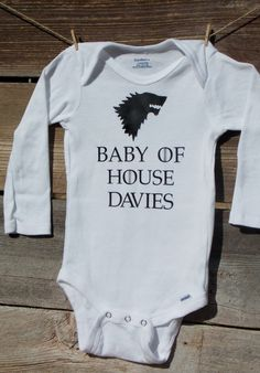 King In The North Game Of Thrones Inspired Kid S Printed Baby Grow