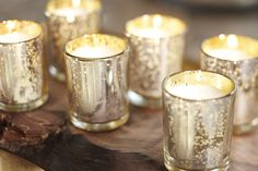 Add a touch of sparkle with mercury glass accessories. Love these!! #potterybarn