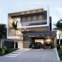 Two Story House Design, Best Modern House Design, Modern Exterior House Designs, Modern House Facades, Modern Bungalow House, Modern Architecture House, House Outside Design, House Front Design, Duplex House Design